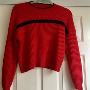 Forever 21 red ribbed sweater